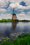 dutch windmill and canal