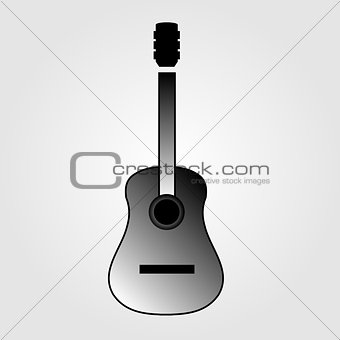 Acoustic guitar is simple colors