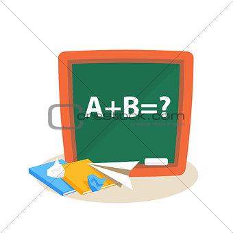 Math Lesson. Education Design Vector Illustration