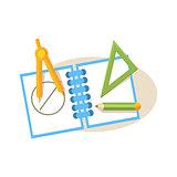 Geometry Items. Education Design Vector Illustration