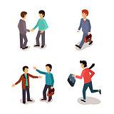 Ordinary People. Everyday Activities. Vector Illustartion Set.