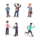 Business People. Everyday Life. Vector Illustartion Set.