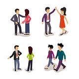 Ordinary People. Everyday Actions. Vector Illustartion Set.