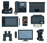 Office equipment .set of vector icon