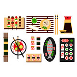 Restaurant asian cuisine Vector flat icon