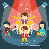 Four kids in a music band