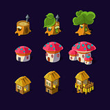 Cartoon element of the game fairy houses