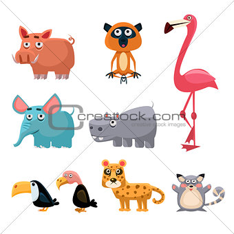 African Animals Fun Cartoon