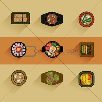 Food Illustration Korean food Vector icon