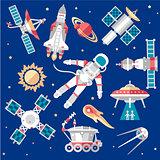 Vector Illustration Set on Space