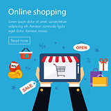 On line store, shopping
