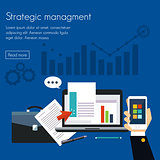 Strategic management Concepts for web banners