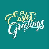 Easter Greetings Typographical Background
