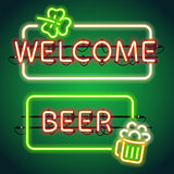 St Patricks Day Neon Frames