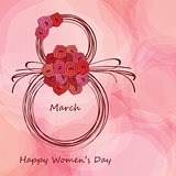 Greeting card for Womens day.