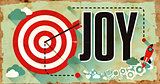Joy Concept. Poster in Flat Design.