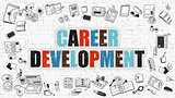 Career Development on White Brick Wall.