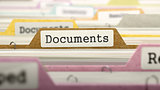 Documents Concept on Folder Register.