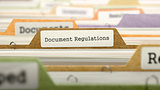 File Folder Labeled as Document Regulations.