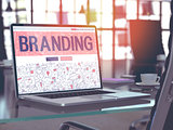 Branding - Concept on Laptop Screen.