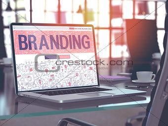 Branding - Concept on Laptop Screen.