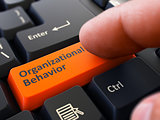 Organizational Behavior - Concept on Orange Keyboard Button.