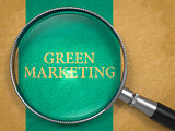 Green Marketing Concept through Magnifier.