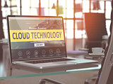 Cloud Technology Concept on Laptop Screen.