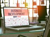 Business Development Concept on Laptop Screen.