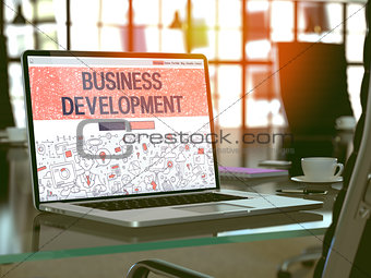 Business Development Concept on Laptop Screen.