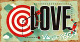 Love Concept. Poster in Flat Design.