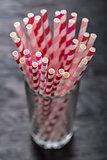 Straws in glass