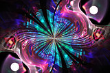 Abstract fractal fantasy pattern and shapes.