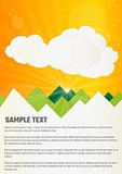 clouds and hills infographics