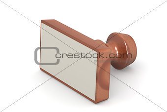Blank wooden stamp