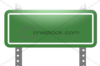 Green sign board isolated