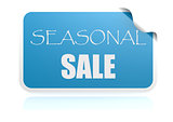 Seasonal sale blue sticker