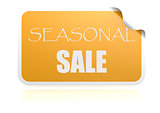 Seasonal sale yellow sticker