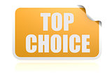 Top choice yellow sticker