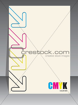 Abstract cmyk brochure with color arrows