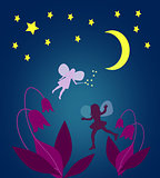 Moonlit Night with Fairies