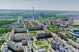 Voynovka residential area. Tyumen. Russia