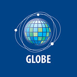 Earth  logo template. Globe sign