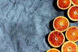 slices of bloody oranges