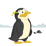 penguin isolated vector