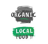 Vector local food label