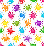 Pattern Colorful Stains Blots Splashes seamless