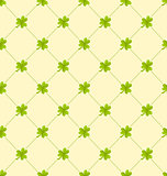 Seamless Ornamental Pattern with Clovers for St. Patricks Day