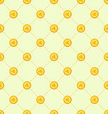 Seamless Simple Pattern with Golden Coins for St. Patricks Day