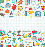 Collection of School Colorful Icons, Wallpaper for School